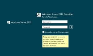 Remote Web Access