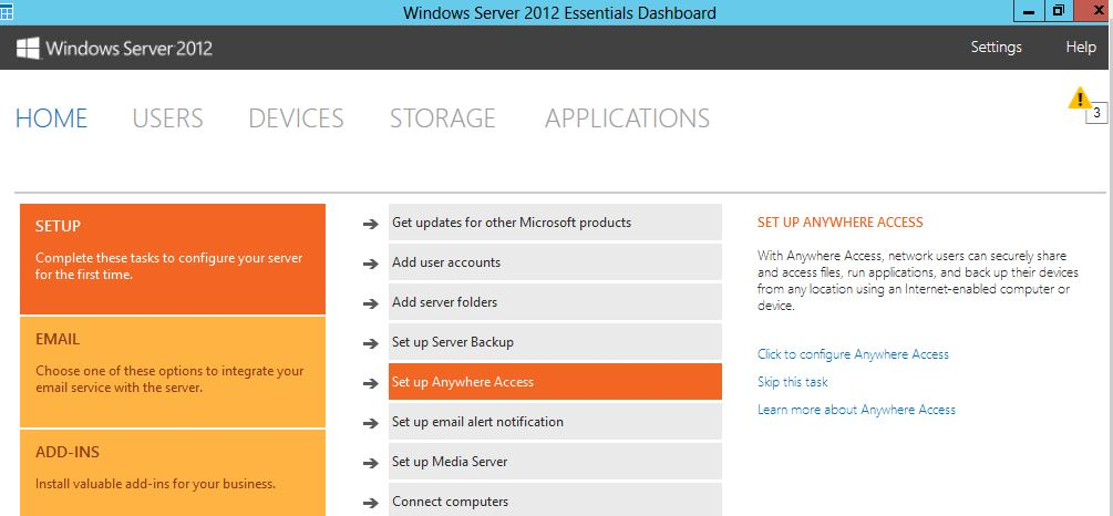 Windows 2012 Server Essentials Anywhere Access – Part 1