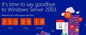 server 2003 website
